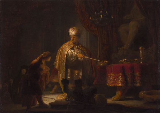 Rembrandt: Daniel and Cyrus Before the Idol Bel. Fine Art Print/Poster. Sizes: A4/A3/A2/A1 (004298)